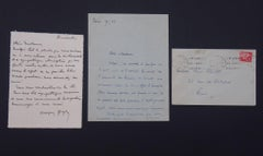 Autograph Apology Letters Signed by Georges Goyan - 1936/1937
