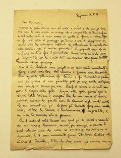 Letter by Arrigo Benedetti to Mino Maccari - 1933