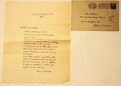 Letter from Bruno Barilli to the Countess Pecci Blunt - 1935