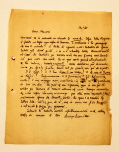 Letter from Arrigo Benedetti to Mino Maccari - 1935
