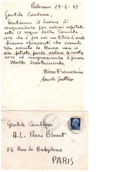 Letter by Renato Guttuso to the Countess Pecci Blunt - 1934