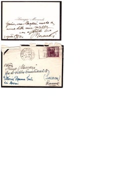 Letter from Giorgio Morandi to MIno Maccari - Mid-20th Century