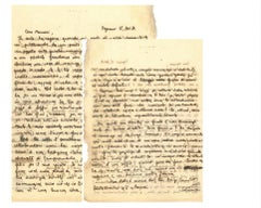 Letter from Arrigo Benedetti to Mino Maccari - 1934