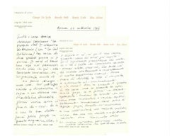 Letter by Romolo Valli to Countess Pecci Blunt - 1966
