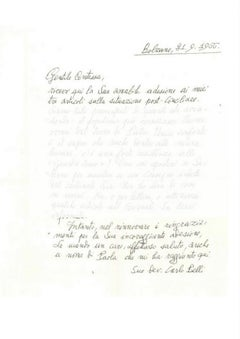 Letter by Carlo Belli to the Countess Pecci Blunt - 1966