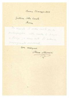 Letter from Mino Maccari to Countess Pecci Blunt - 1937