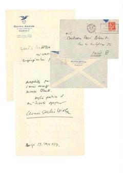 Letter by Giulio Cesare Viola to Countess Pecci Blunt - 1937
