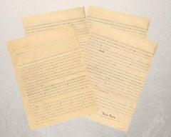 Letter b Irene Brin to Countess Pecci Blunt - 1940s