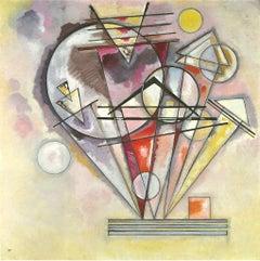 Geometric Composition Original Lithograph after Vassily Kandinsky - 1966