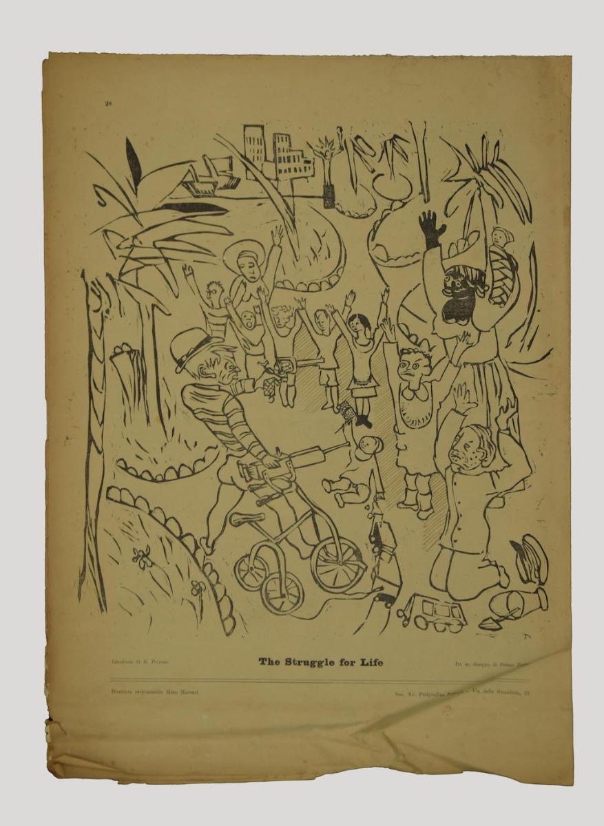 Price- Il Selvaggio no.7/8 - Original Magazine by Mino Maccari - 1939