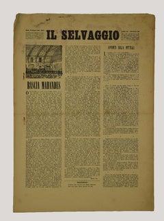 Price- Il Selvaggio XVIII - Vintage Art Magazine by Mino Maccari - 1940