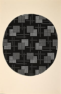 Composition 3 - Original Drawing by Clément Kons - 1920s