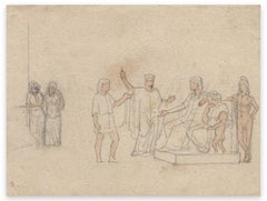 Figures - Original Drawing by Georges Antoine Rochegrosse - Early 20th century