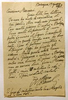 Thank You Letter by Giorgio Morandi to Mino Maccari - 1949