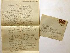 Thank you Letter by Giorgio Morandi to Mino Maccari - 1946