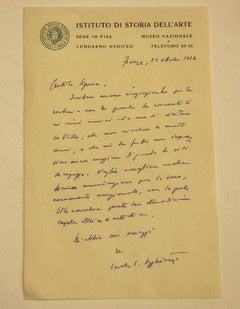 Autograph Letter by C.L. Ragghianti - 1946