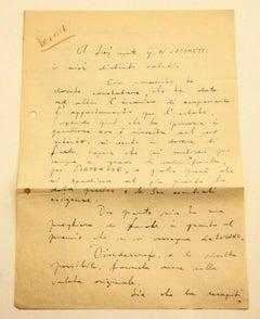PRICE - Letter of Janez Bernik - 1960s
