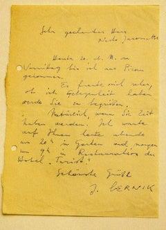 Letter Janez Bernik to Nesto Jacometti - 1960s