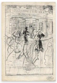 Théatre Ebert - Original Drawing by Jacques Acremant - Mid-20th Century