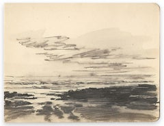 Black Sea Horizon - Original Ink by Louis-Charles Willaume - 1938