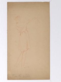 Figure - Original Drawing by Henri Lucien Detouche - 19th Century
