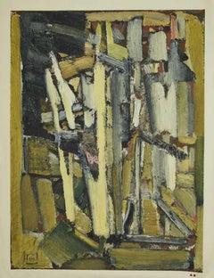 Composition - Original Lithography by Henri Deschamps - Mid-20th century