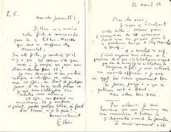 Grand Pavois - Correspondence by Maurice Estève - 1956