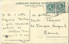 Autograph Postcard by Arturo Noci - 1907