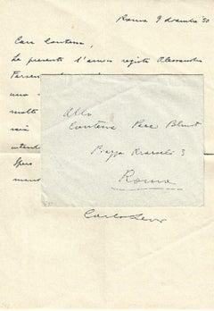Autograph Letter by Carlo Levi - 1950