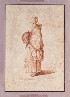 Figure of Woman - Original Ink Drawing  - 18th Century