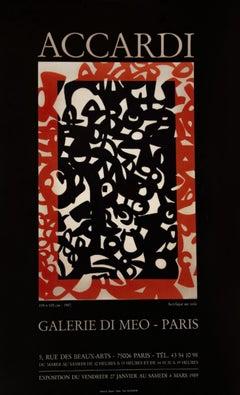 Carla Accardi - Vintage Exhibition Poster - 1989
