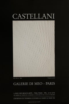 Vintage Poster after Enrico Castellani - 1988