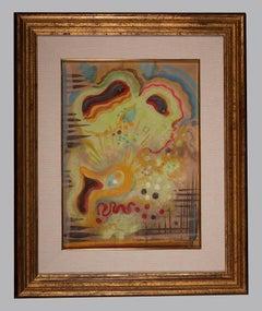 The dream - Original Watercolor by Jean-Raymond Delpech - 1958