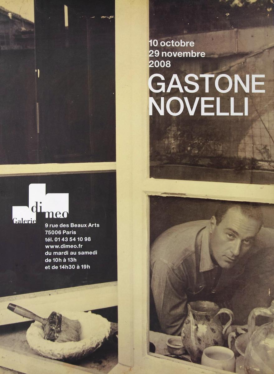 Gastone Novelli - Vintage Exhibition Poster - 2008