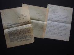 Correspondence by Léon Gischia to Nesto - 1950s