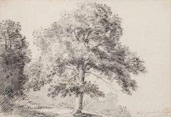 Landscape - Original Pencil and Ink on Paper by J. P. Verdussen - 18th Century