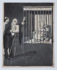 Cover of the Magazine l'Asino - Original China Ink by Gabriele Galantara - 1908