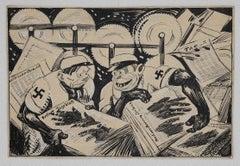 Berline Taglebatt - Original China Ink by Gabriele Galantara - Early 1930s