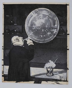 Magazine l'Asino - Original Ink and Watercolor by Gabriele Galantara - 1909
