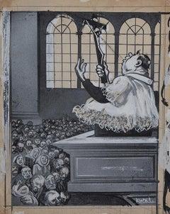 Back Cover of l'Asino - Original Artwork by Gabriele Galantara - 1909