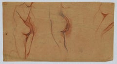 Woman's Figure - Original Pencil and Pastel by D. Ginsbourg - 1916
