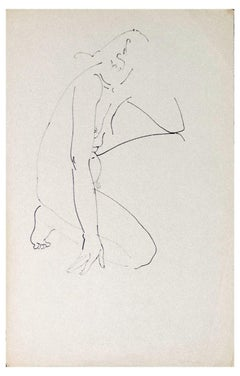 Nude of Woman - Original Artwork by Louis Touchagues - Mid-20th Century