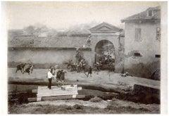 Giorgio Ceragioli Performs a Scenographic Painting by Giorgio Ceragioli - 1900