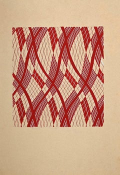 Geometric Composition - Original Painting by Clément Kons - 1920s
