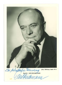 Portrait of Paul Heidemann with Signature- 1960