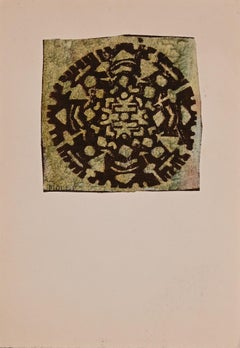 Settlement - Original Woodcut Print by Mario Molli - Late 20th Century