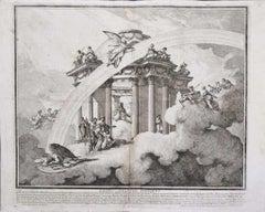 Fortes Creantur Fortibus - Original Etching by Louis-Joseph Le Lorrain -1748