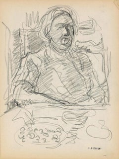 Sketch - Original Pencil by Serge Fontinsky - Mid-20th Century