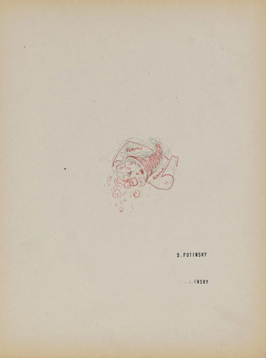 Sketch - Original Ink by Serge Fontinsky - Mid-20th Century