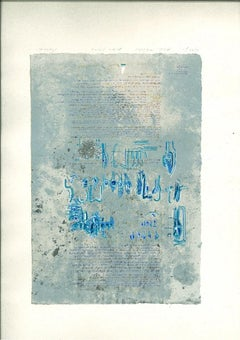 The Seven Days of Bardo Thodol 3 - Original Lithograph by M. Canzoneri - 1977